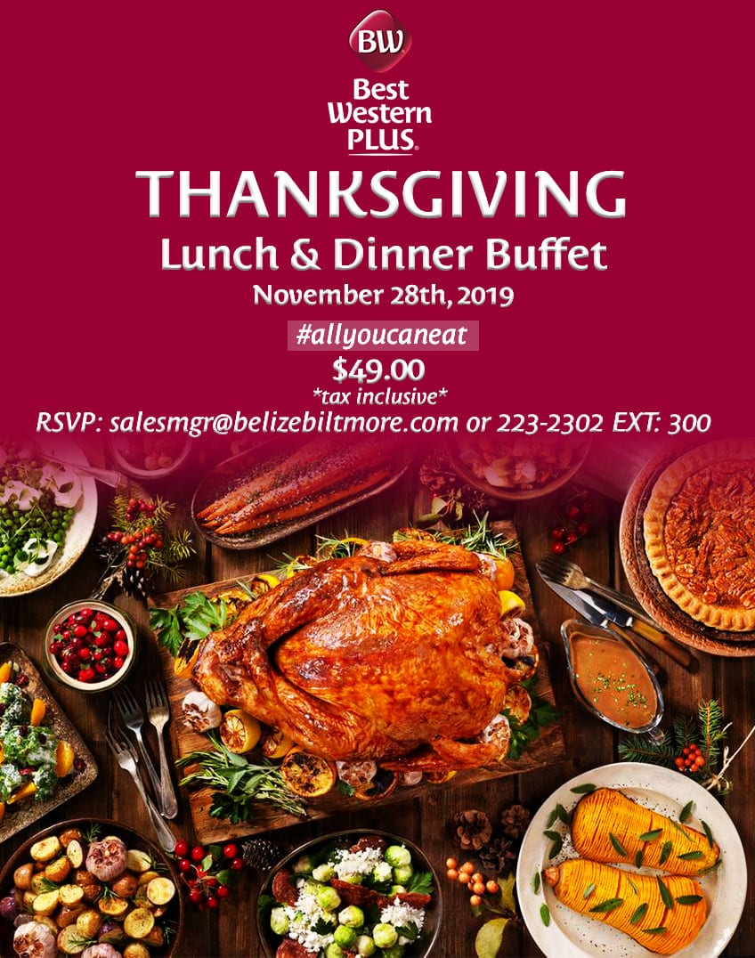 best western belize thanksgiving dinner
