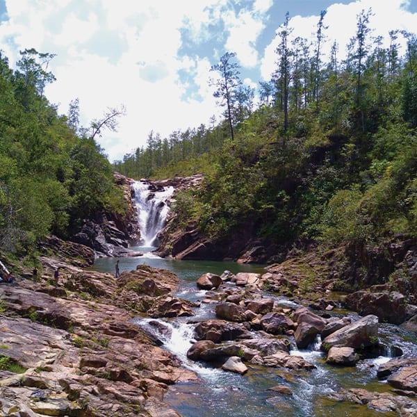 big rock falls