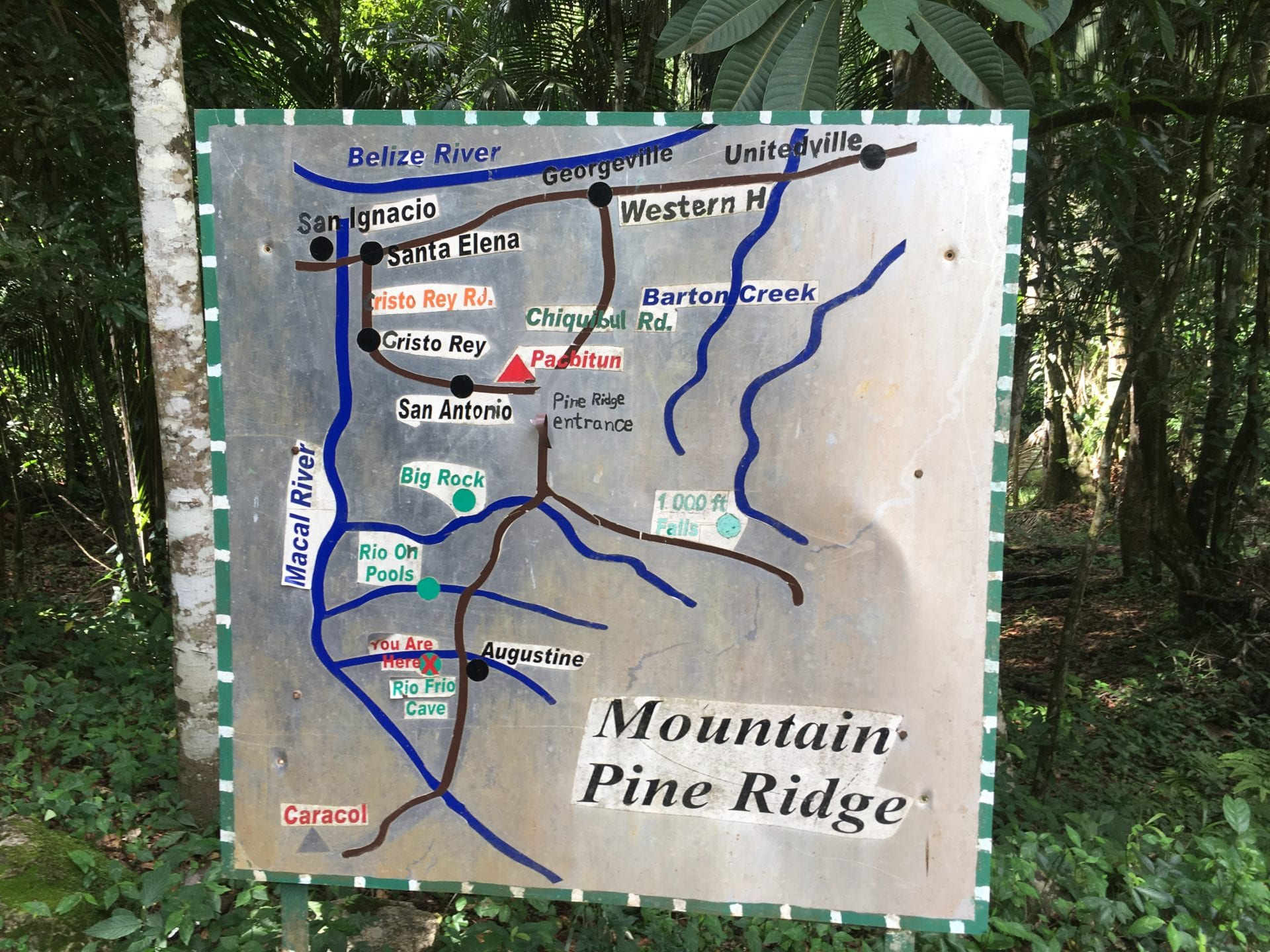 mountain pine ridge map