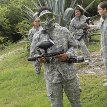 teens - paint ball in Belize