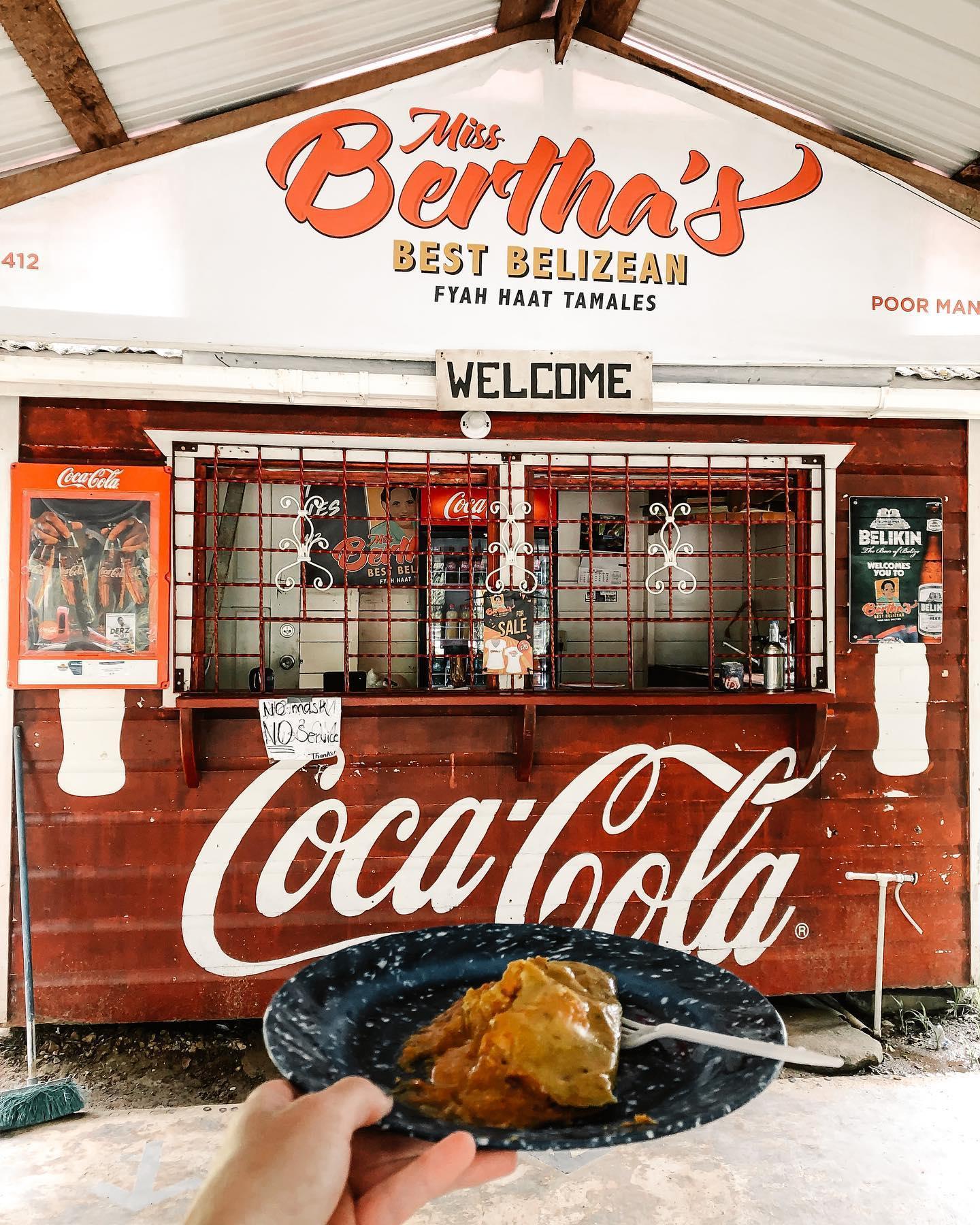 Bertha's Tamales Roeming Belize