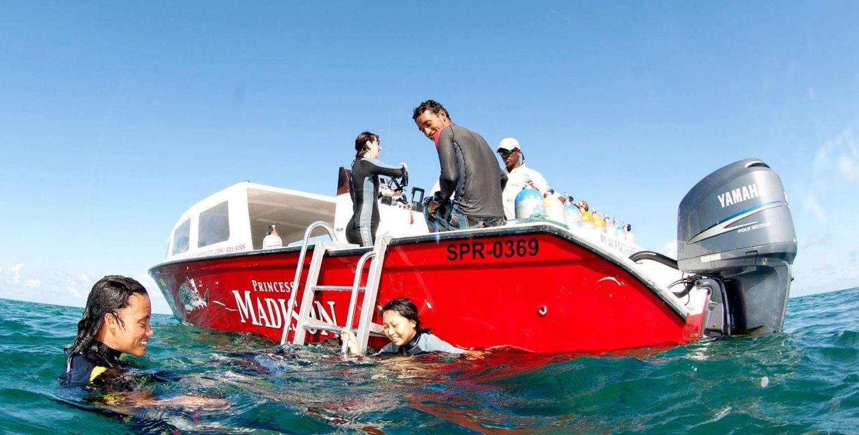 Splash diving boat