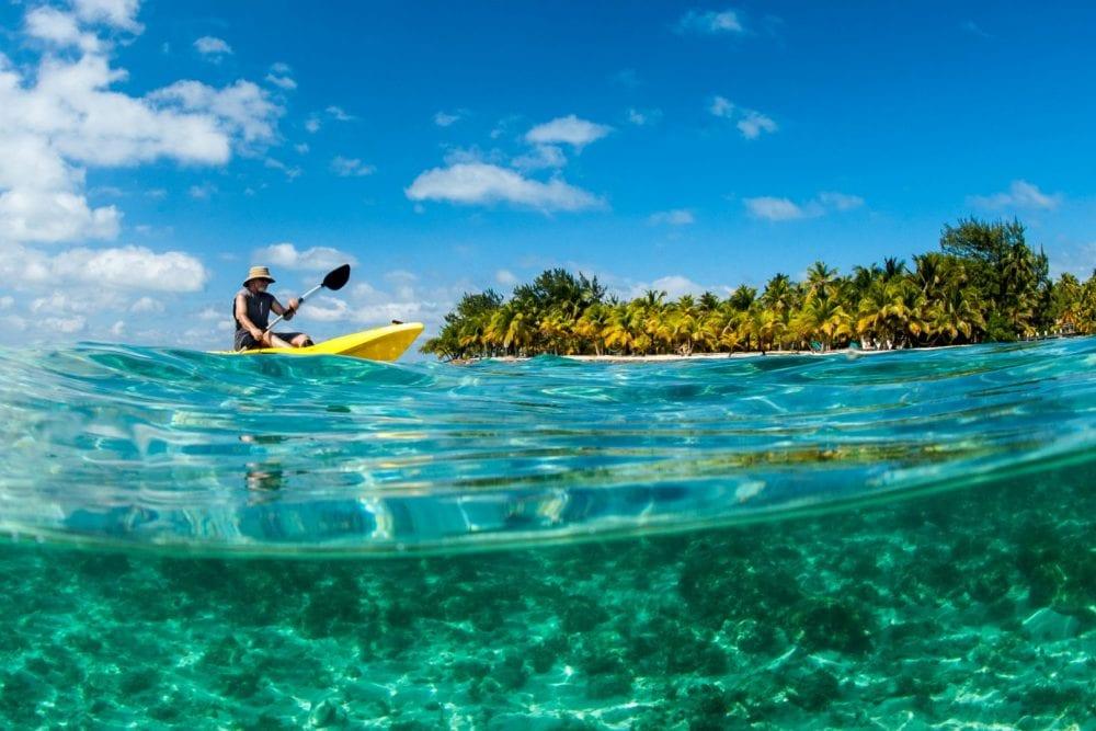 Kayaking Blue marlin south water caye