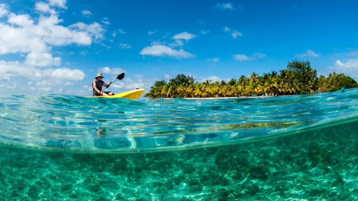 Kayaking Blue marlin south water caye