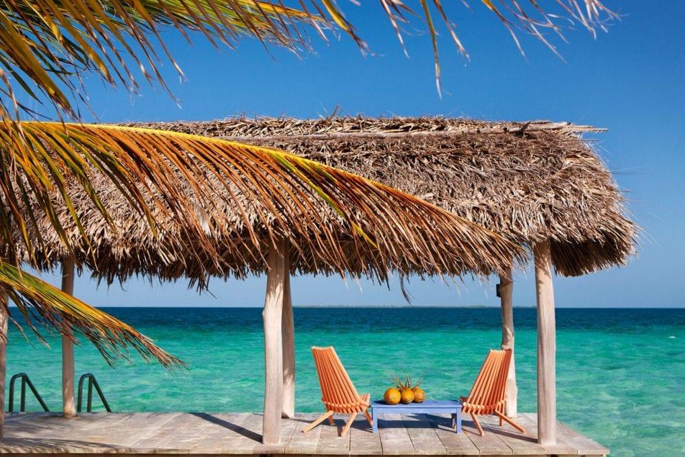 beach chair ocean view Royal Belize