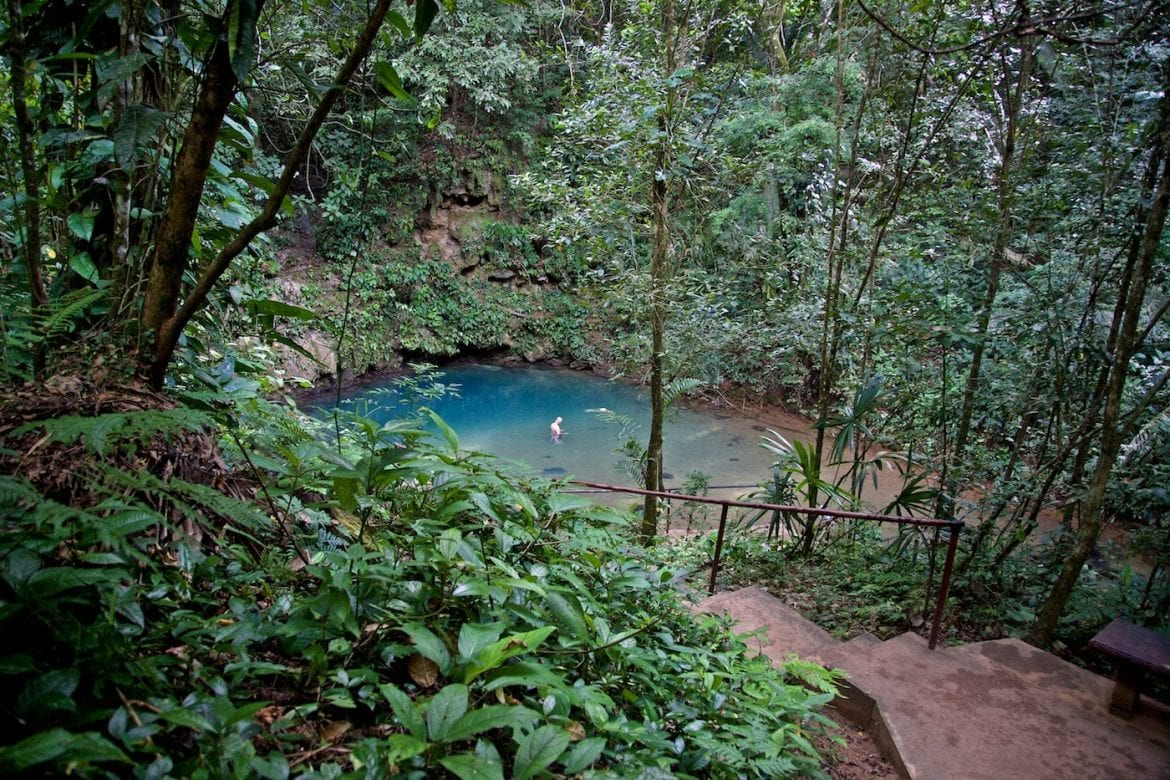 St. Herman's blue hole national park