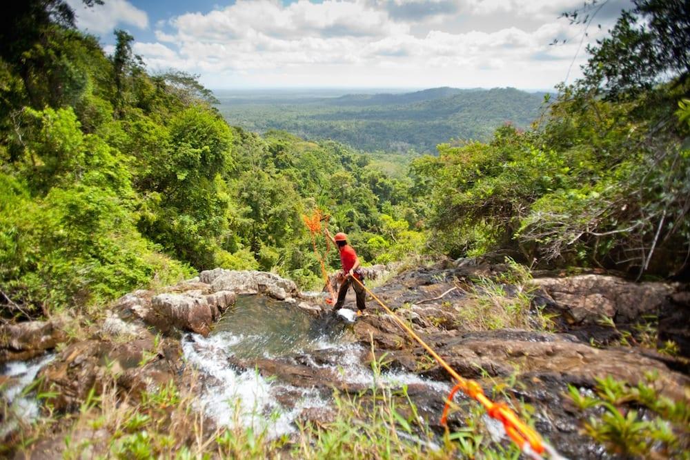 rapelling waterfall bocawina