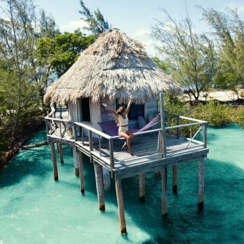 Thatch caye belize overwater cabana