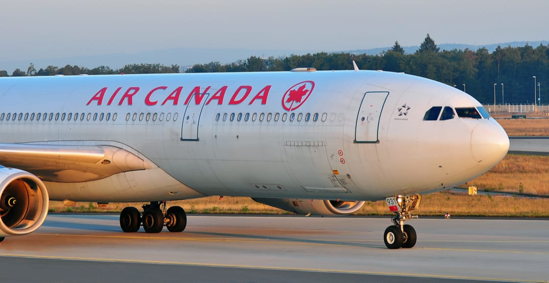 air Canada airplane tarmac