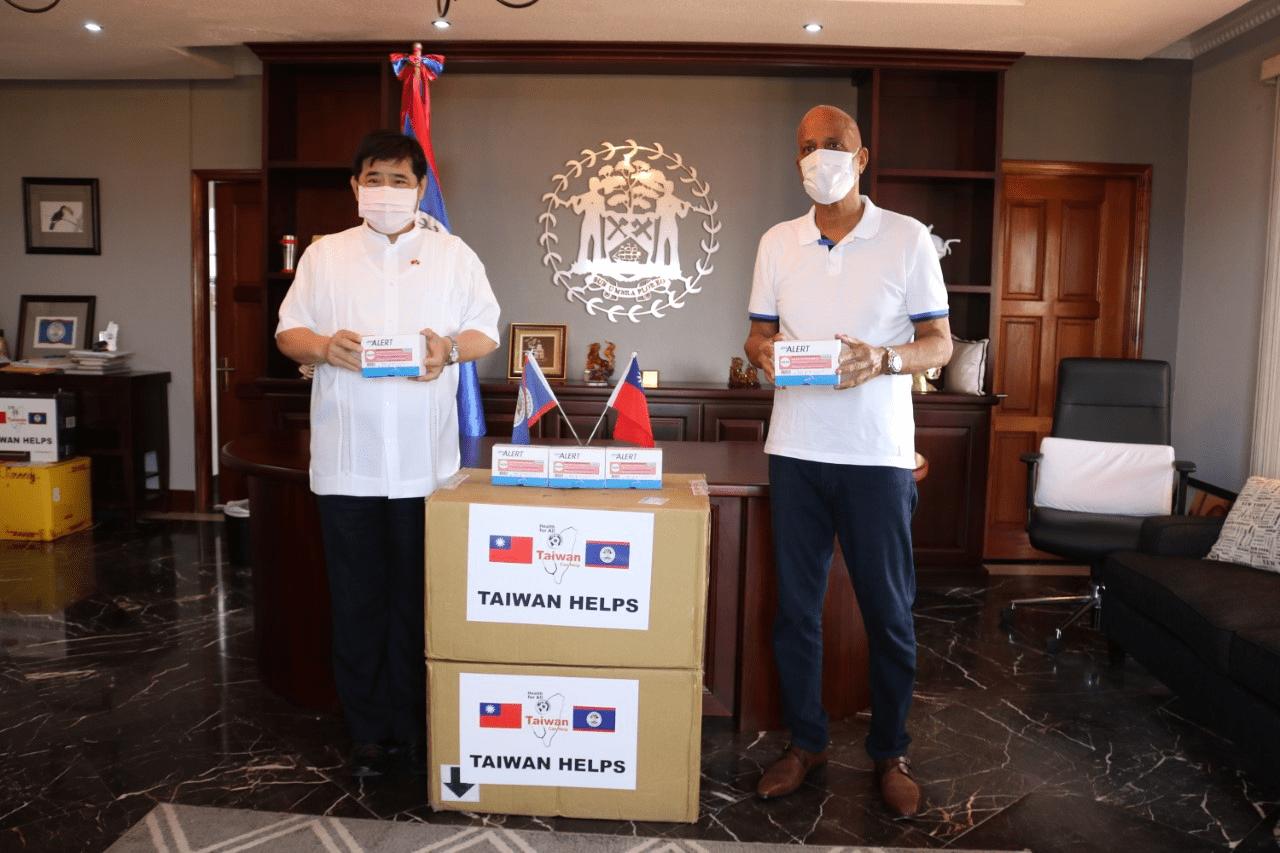 Taiwan donates rapid tests belize