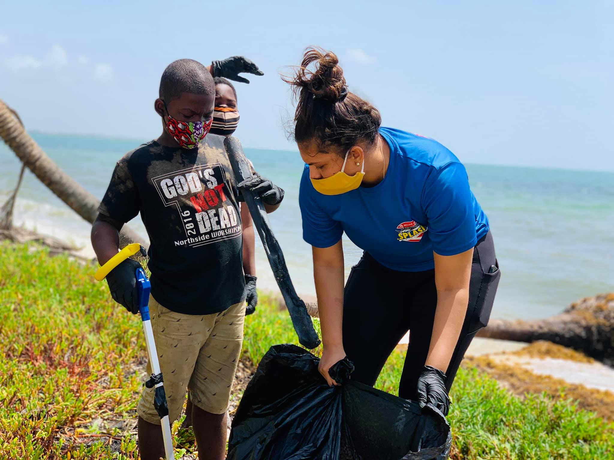 trash clean up splash dive idc