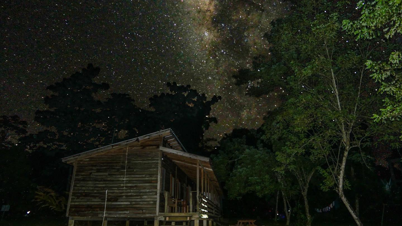 cockscomb basin wildlife sanctuary overnight dorms starry night