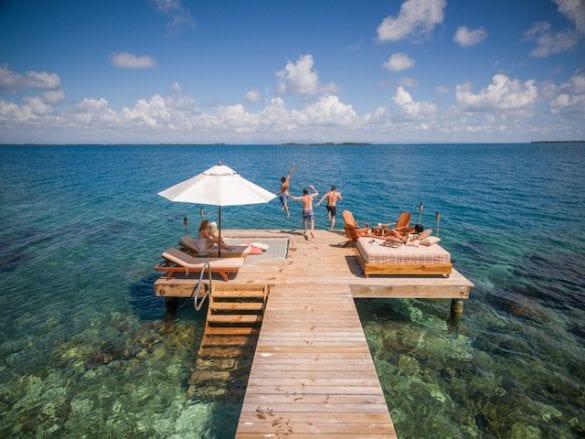 Coral Caye dock belize coppola
