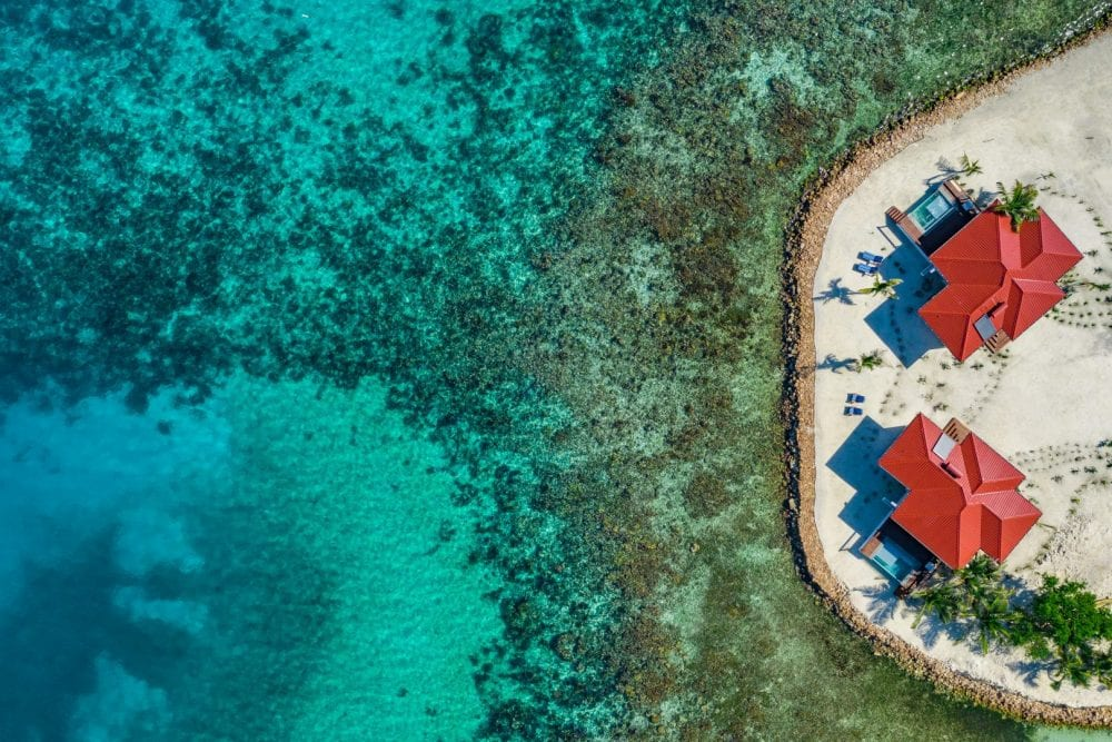 drone photo reef Ray Caye