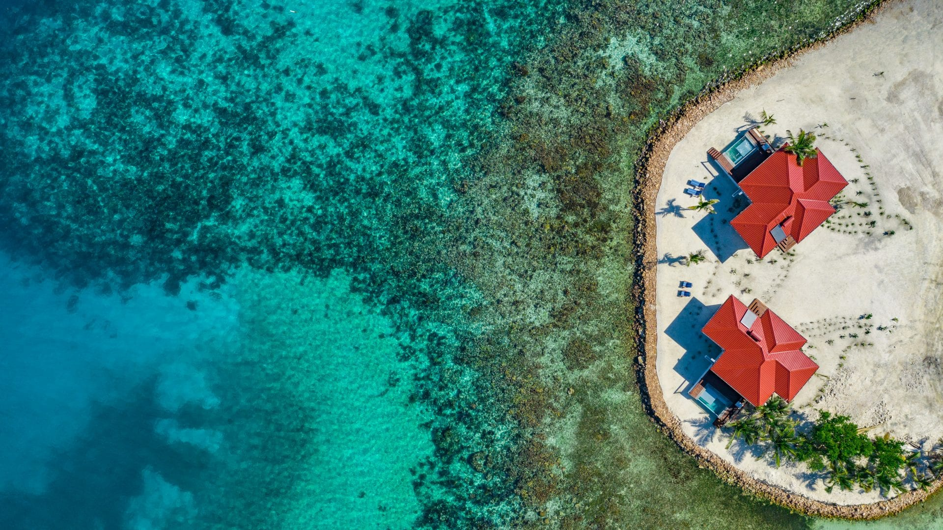 drone photo reef Ray Caye
