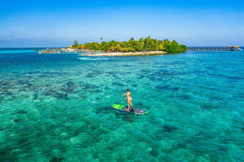 Ray Caye island paddle board