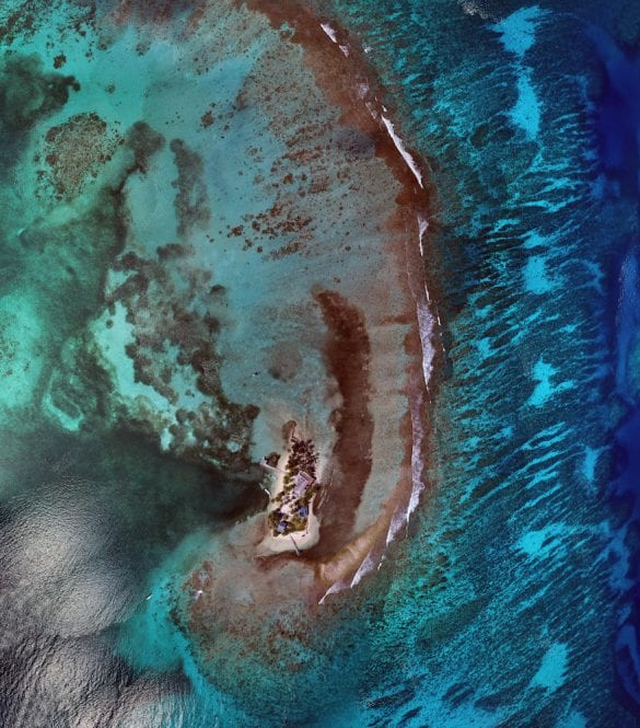 Carrie bow Caye aerial belize