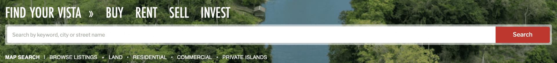 vista search make your move belize real estate