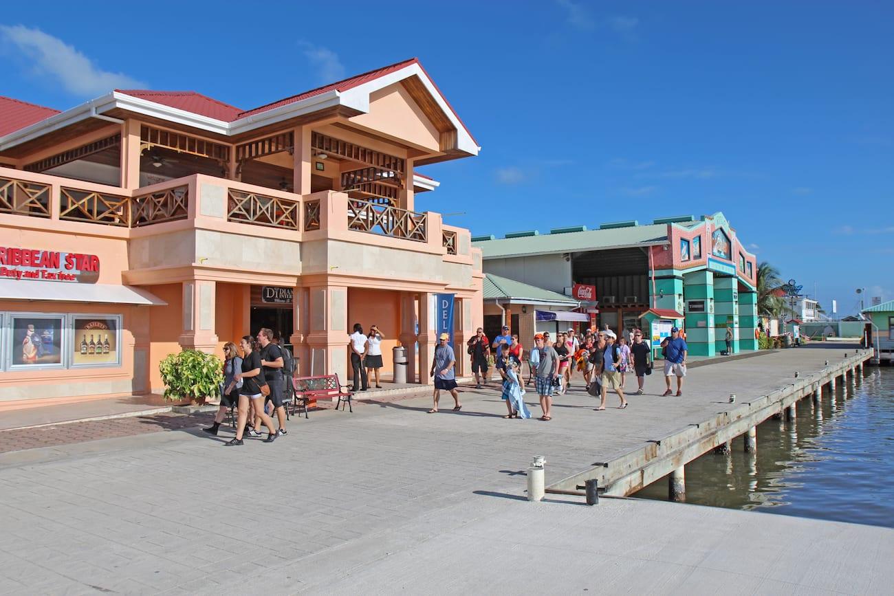 Belize City cruise port tourist village