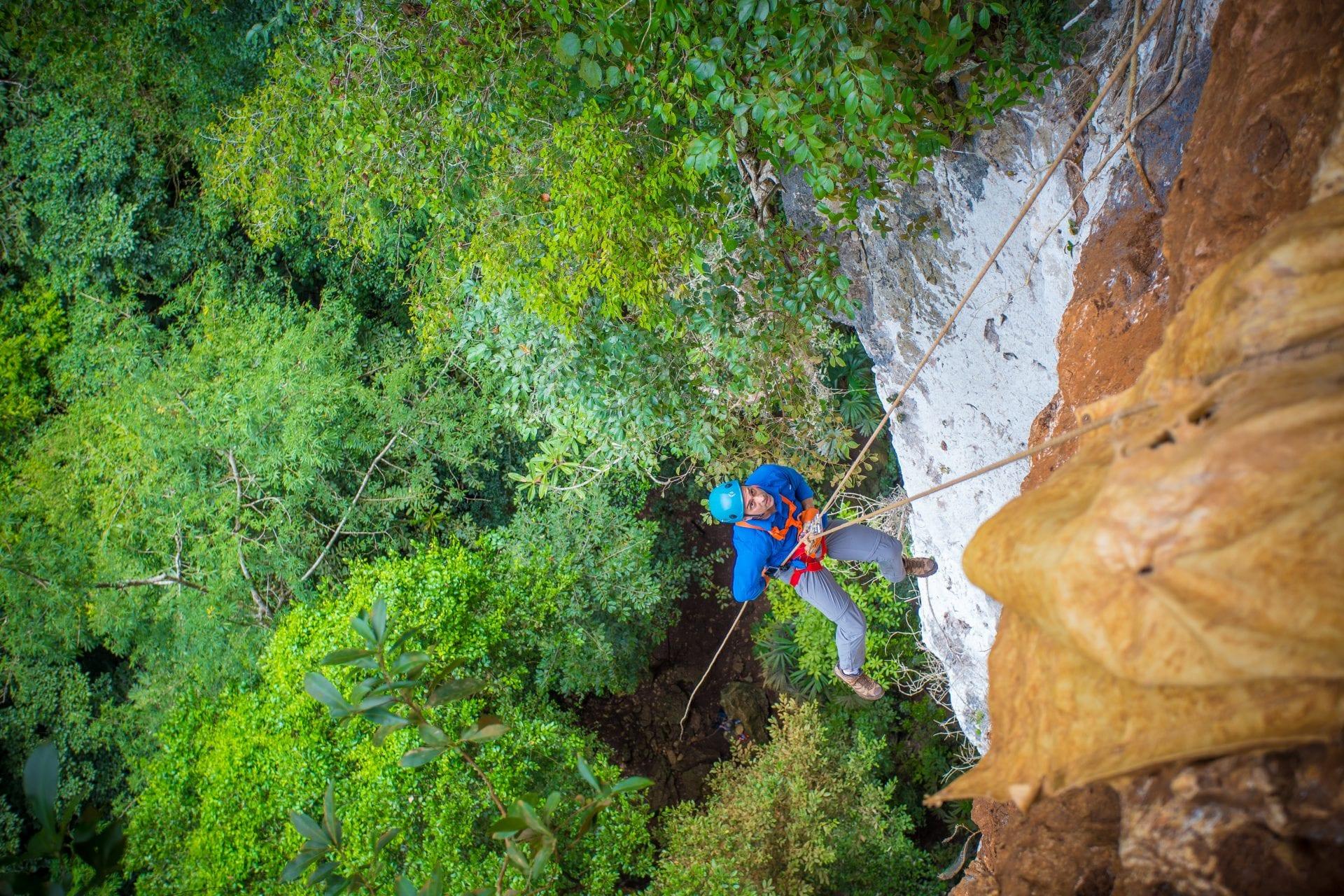 Belize's Black Hole Drop at Caves Branch Jungle Lodge.