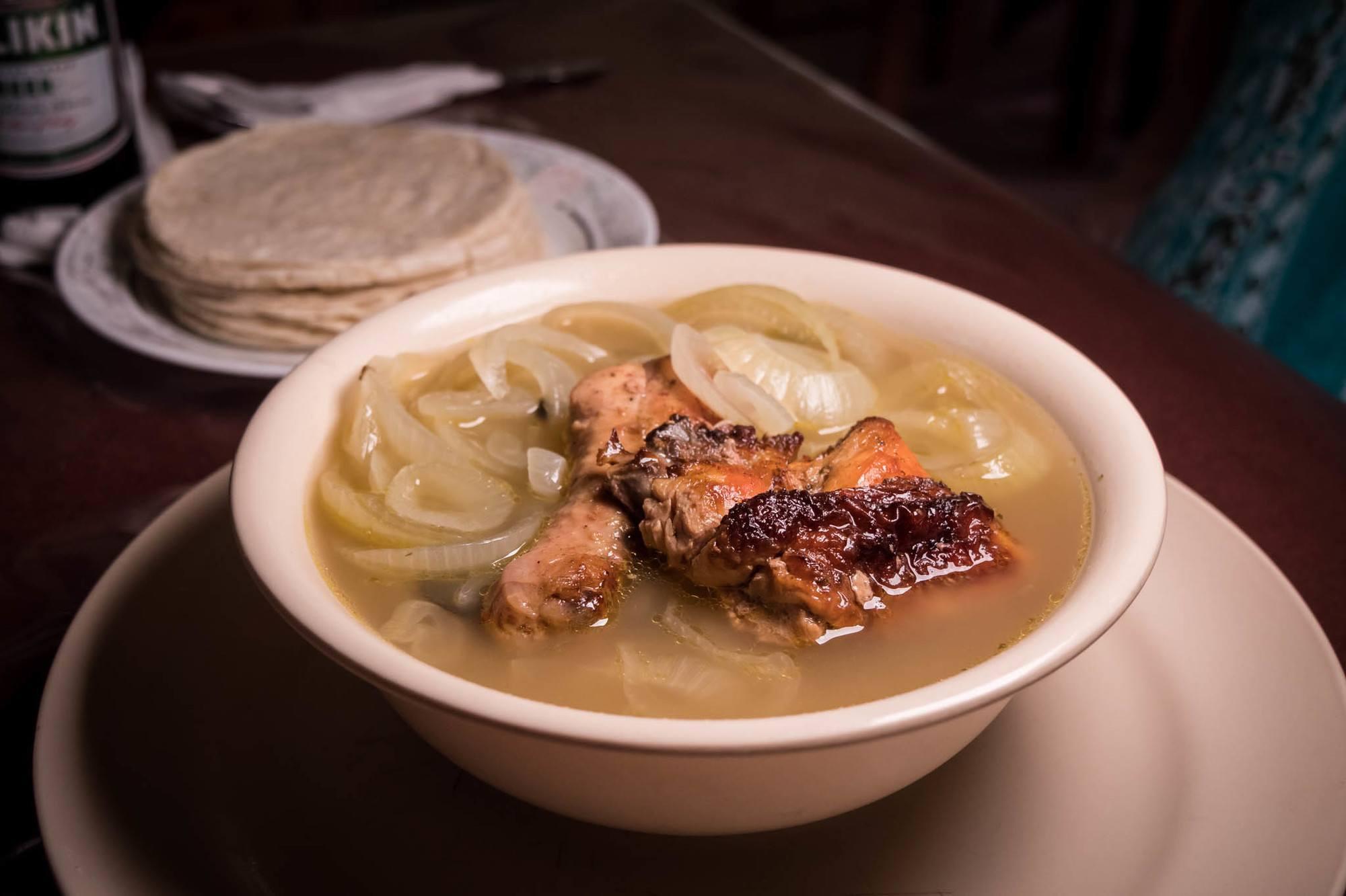 belizean food escabeche onion soup