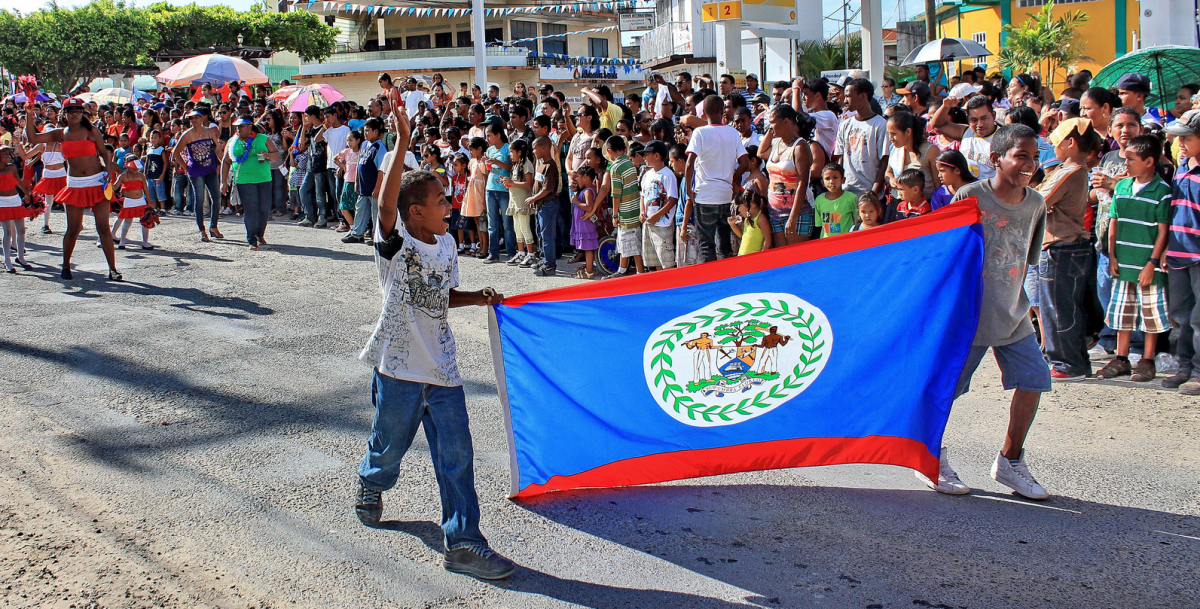 belize flag September celebrations