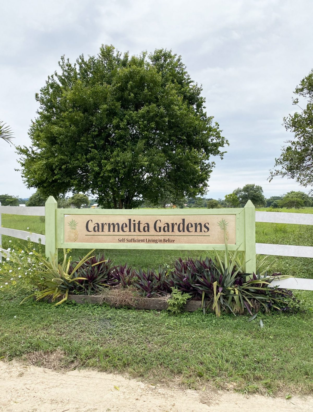 carmelita-gardens-sustainable-living-self-sufficient-belize-cayo sign