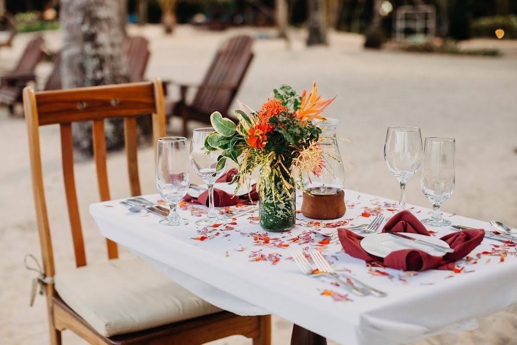 beach dinner Hamanasi Hopkins belize