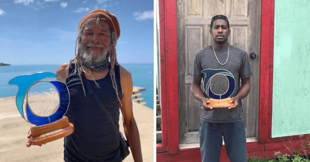 2020 ocean hero awards pose Oceana Belize southern fishermen