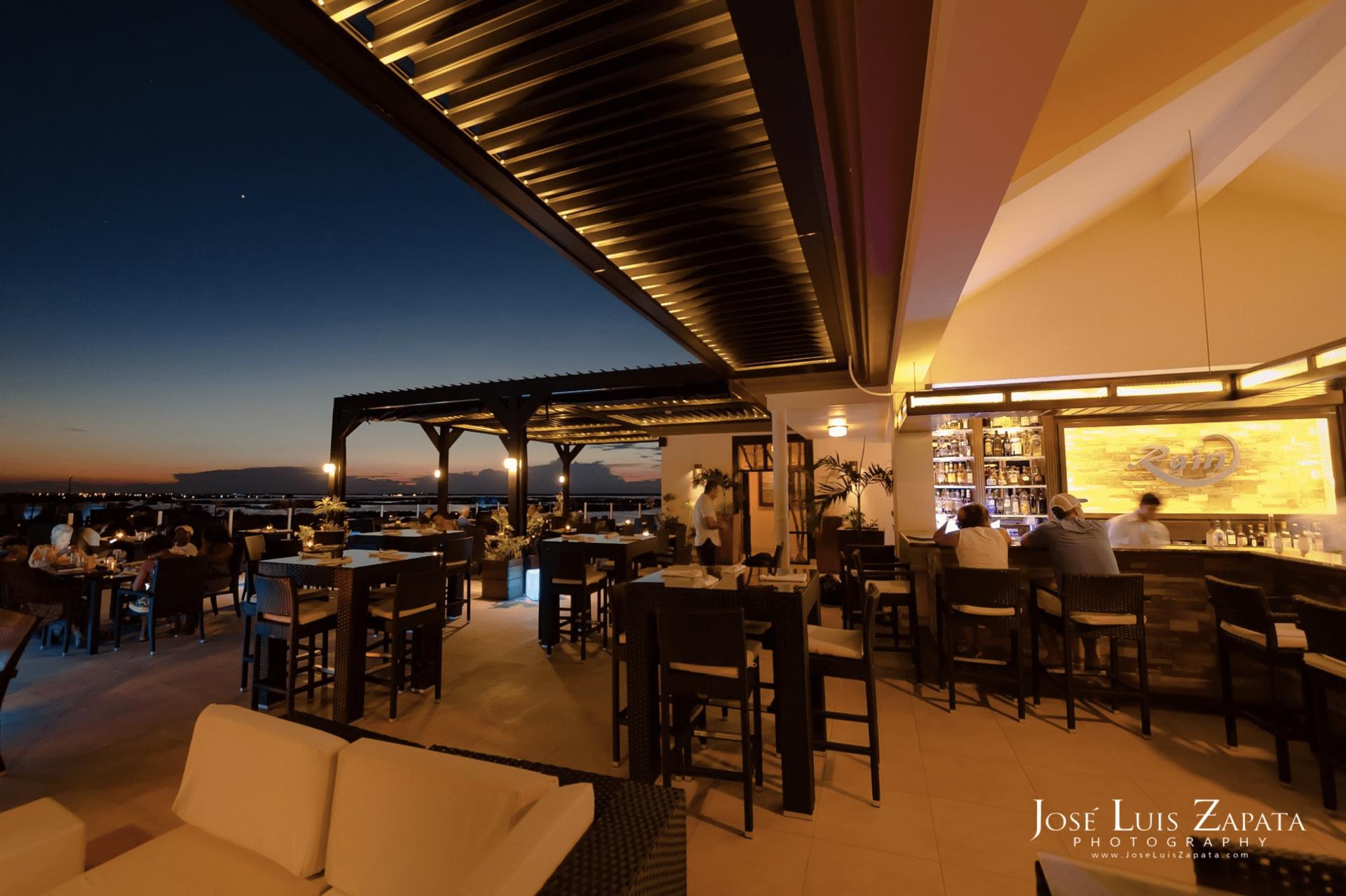 rain restaurant grand caribe rooftop bar