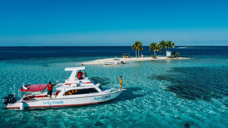 silk cayes belize drone beach