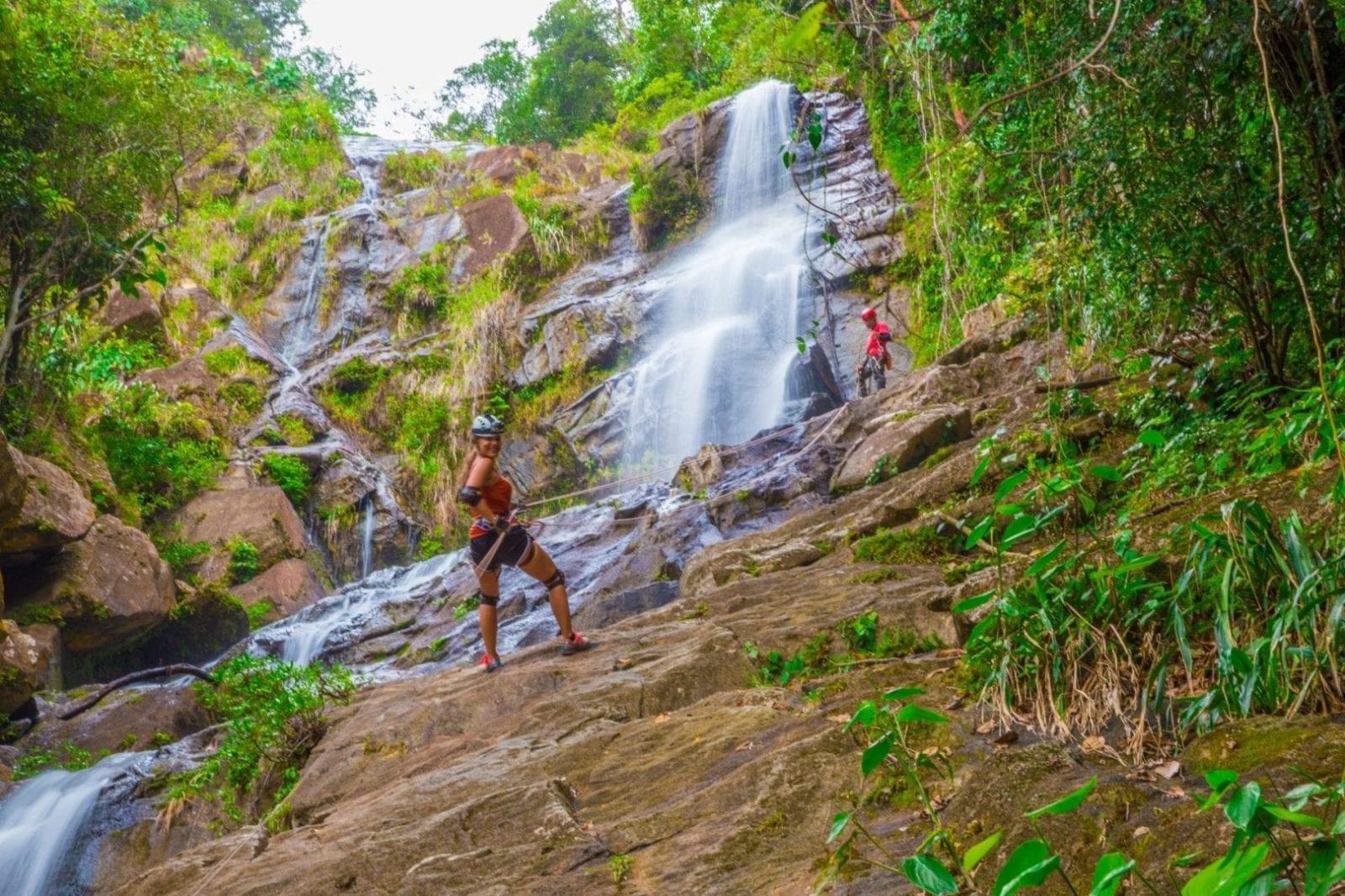waterfall rapelling bocawina