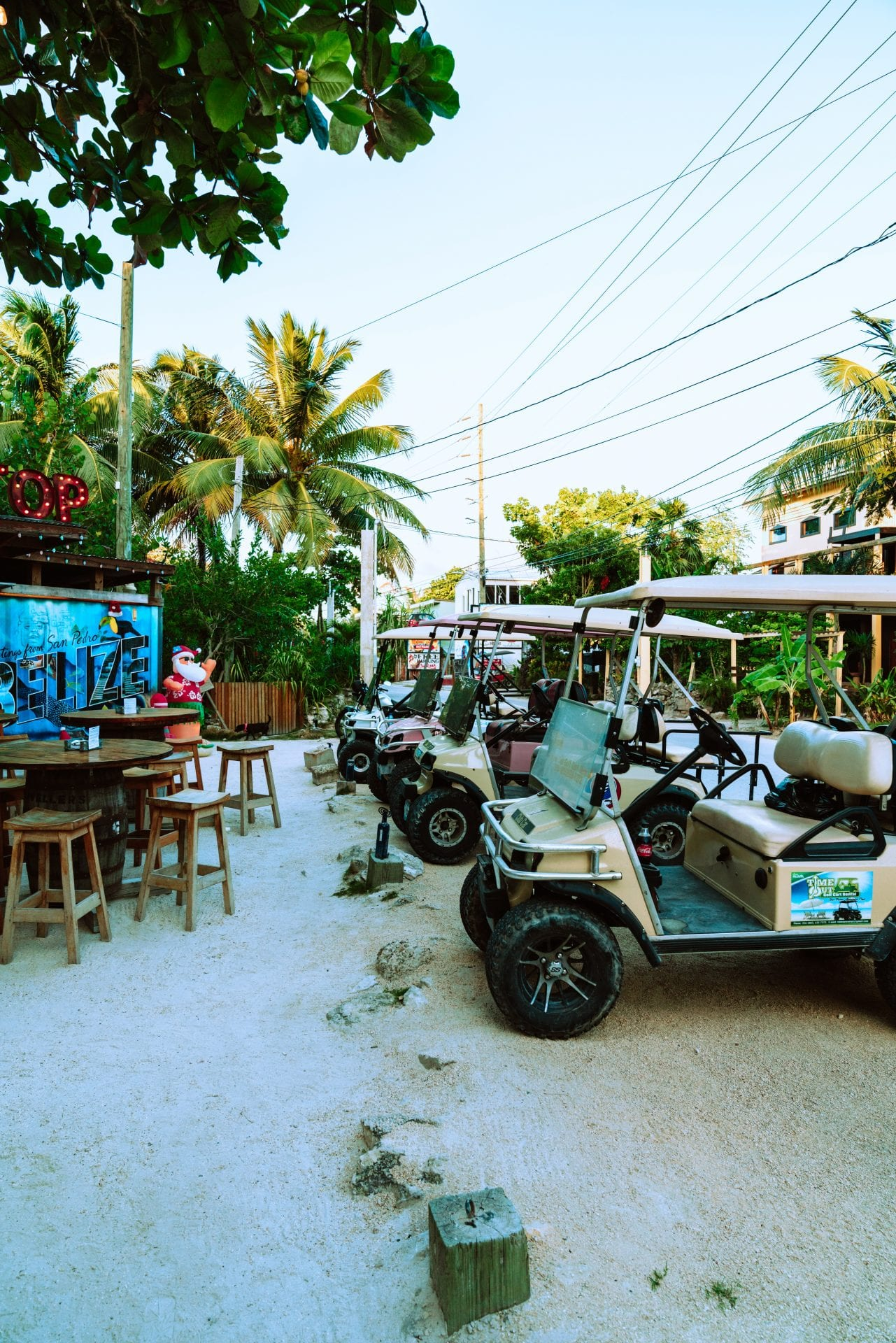 golf carts truck stop ambergris san pedro