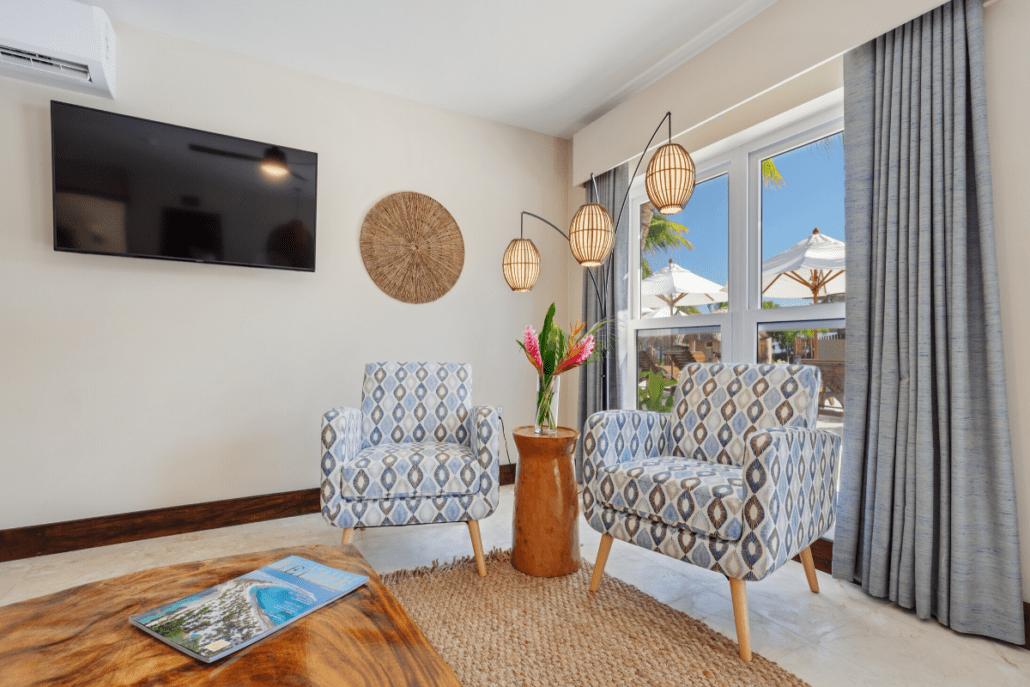 Crab-Bungalow-Sirenian-Bay-Sitting-Area-Luxury-Vacation-Rental-Belize-1030x687
