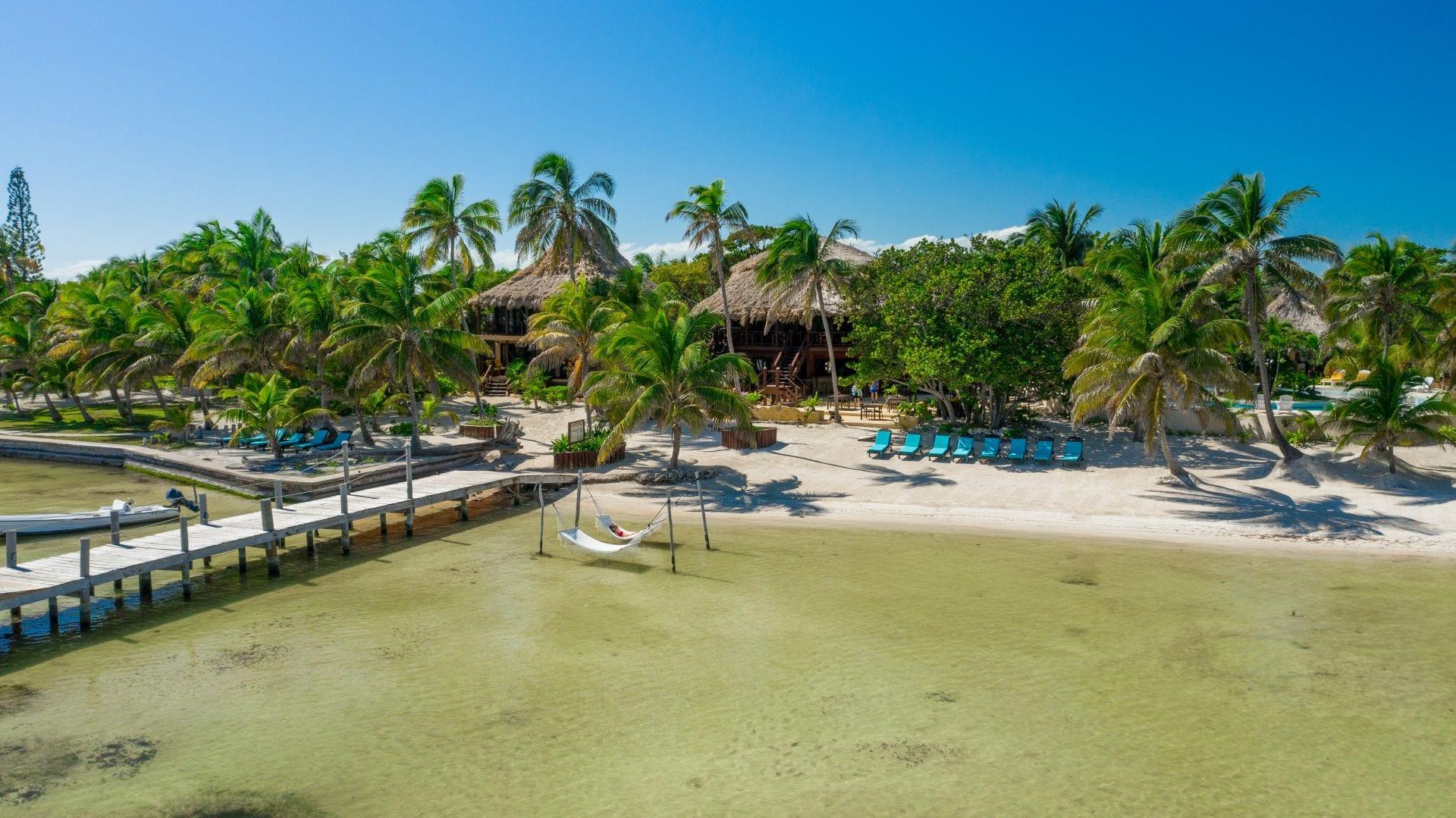 Drone_Portofino__DuarteDellarole-46 belize San Pedro Ambergris Caye resort hammock