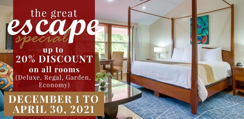 San Ignacio Resort Hotel special The-Great-Escape-2021 belize promo code
