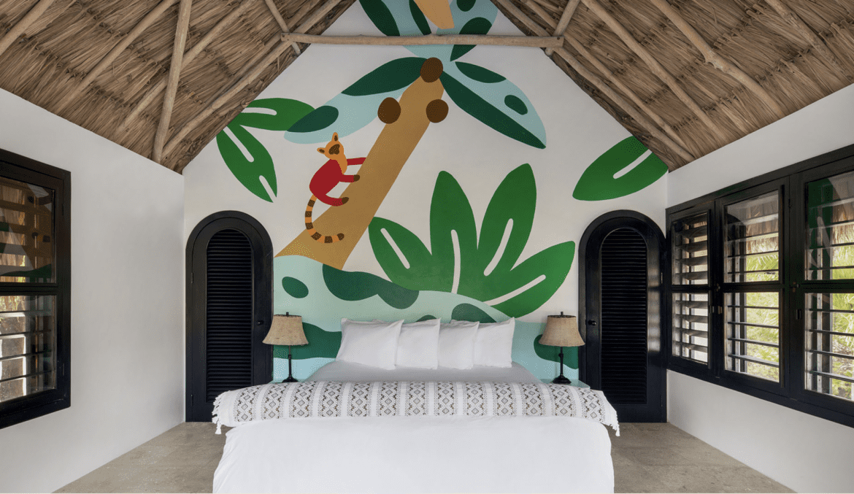Matachica Resort room mural