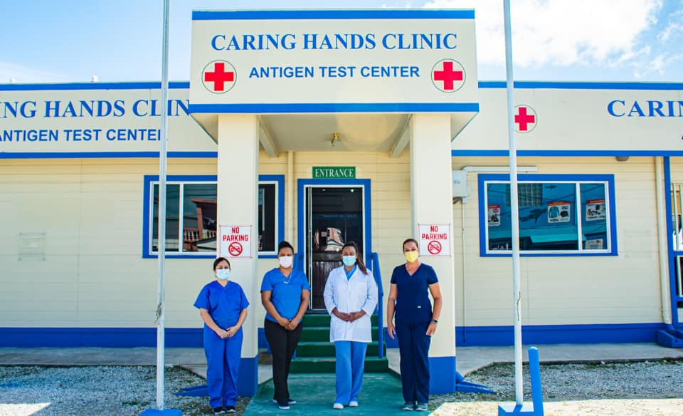 caring hands clinic maya test belize covid