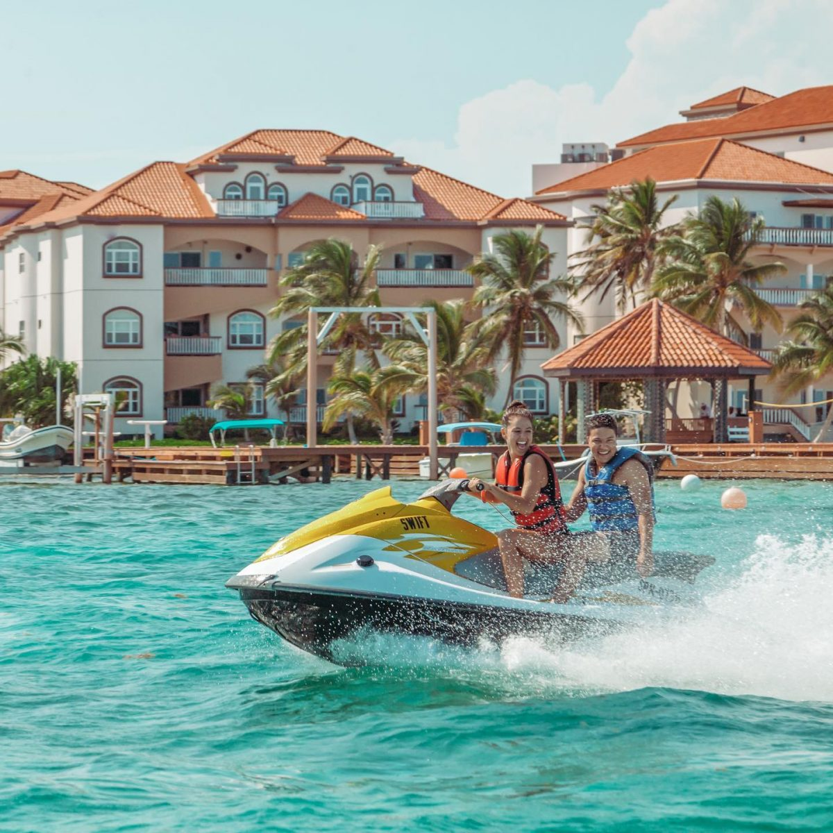 jet ski grand caribe resort belize