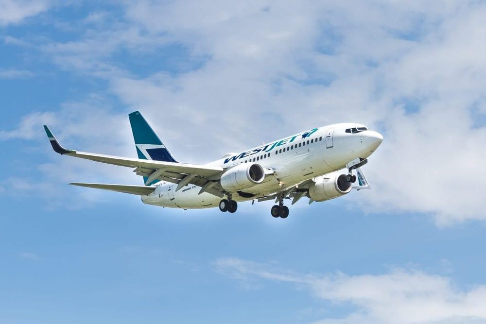 WestJet plane Canadian travel