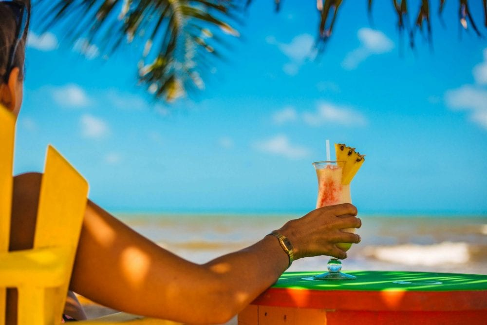 pina colada hopkins muyono beach belize