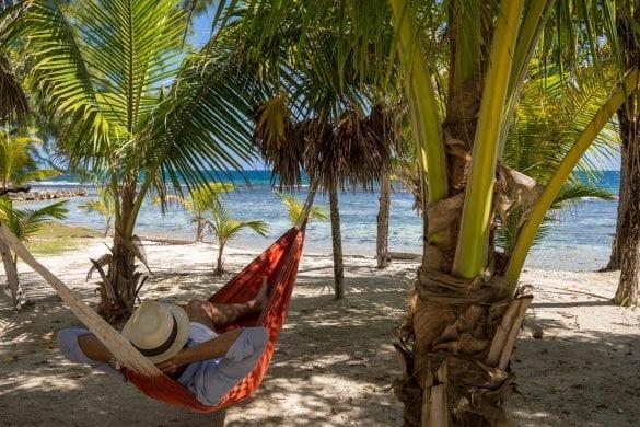 Coral Caye hammock beach
