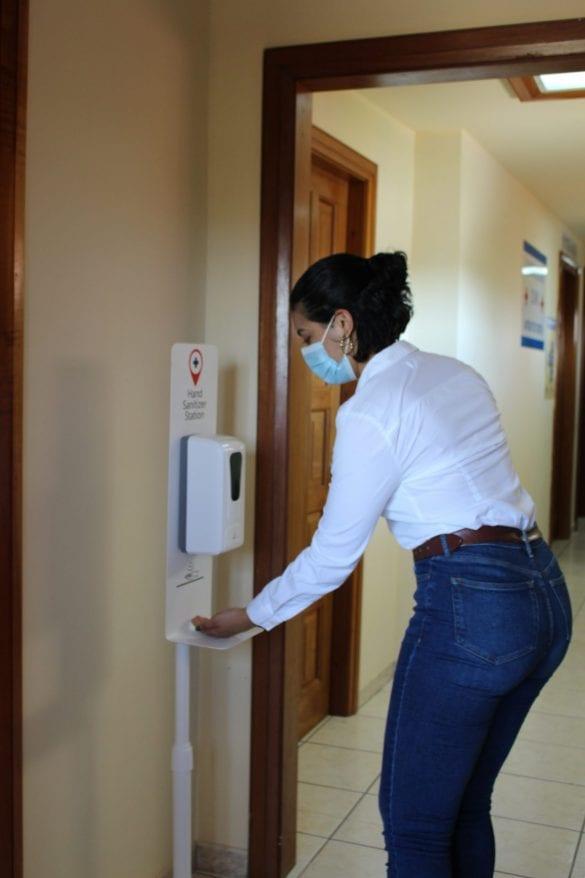 Maya island air covid clinic test abbott sir Barry Bowen airport Belize City municipal sanitize