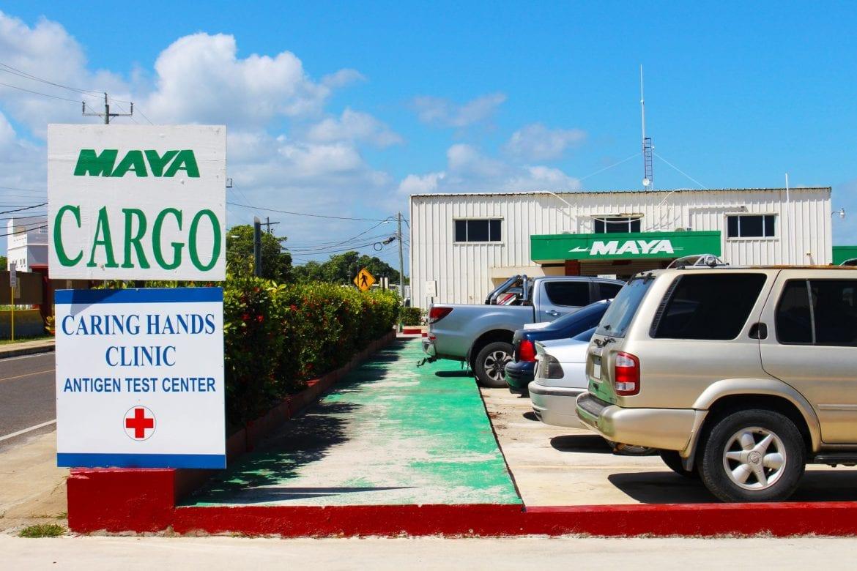 Maya island air cargo Belize City municipal tza covid test clinic