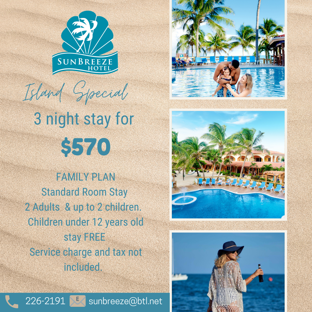 belize local special deal weekend sun breeze