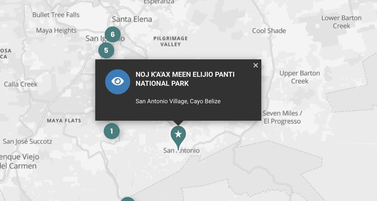 elijio panti national park location cayo