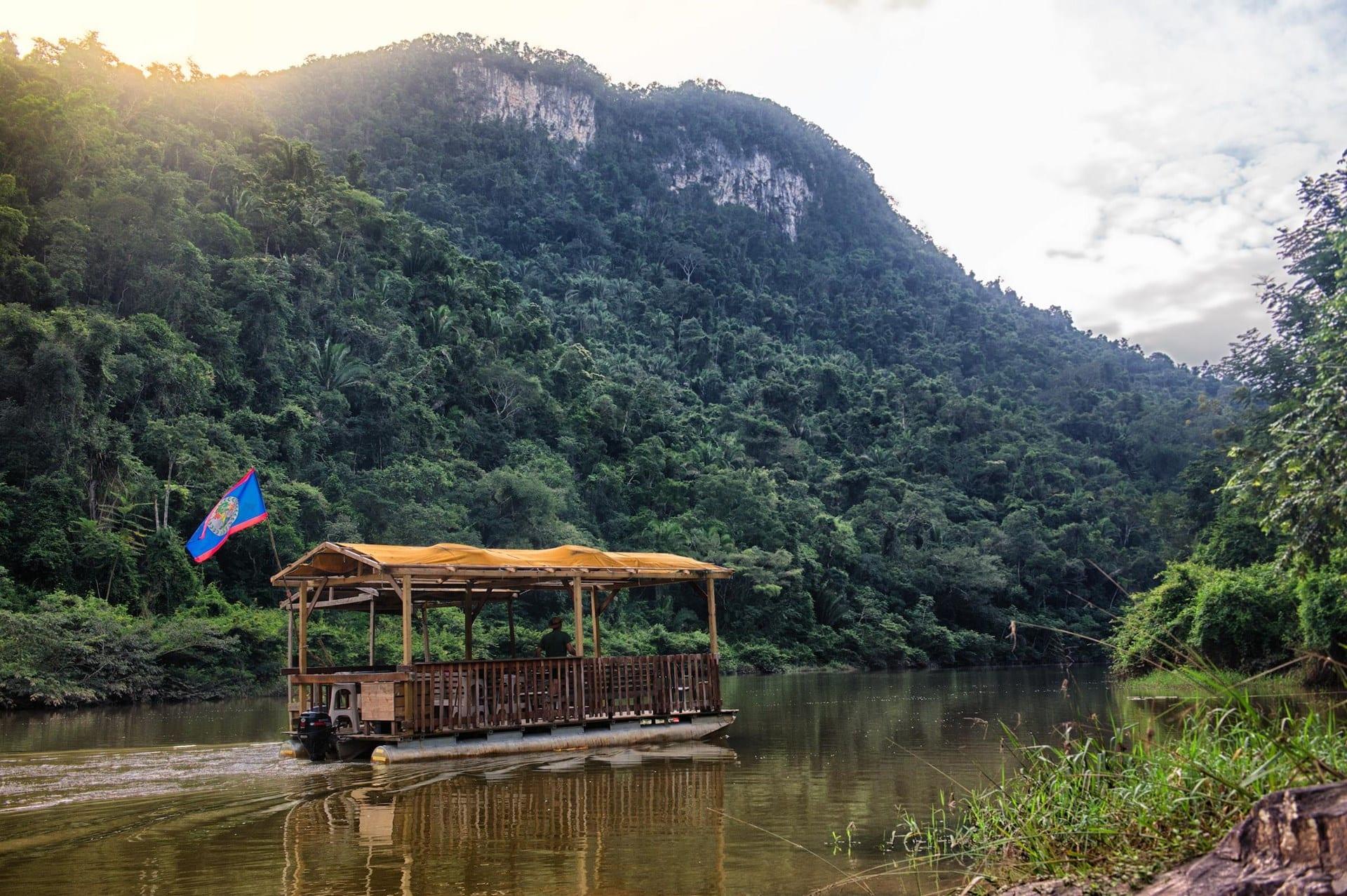 jungle pontoon cayo waterfall adventure