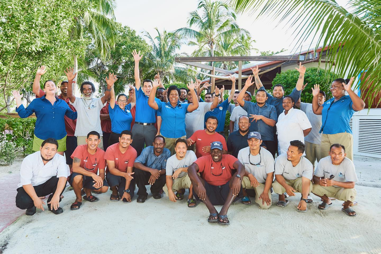 dasha team Ray Caye island resort