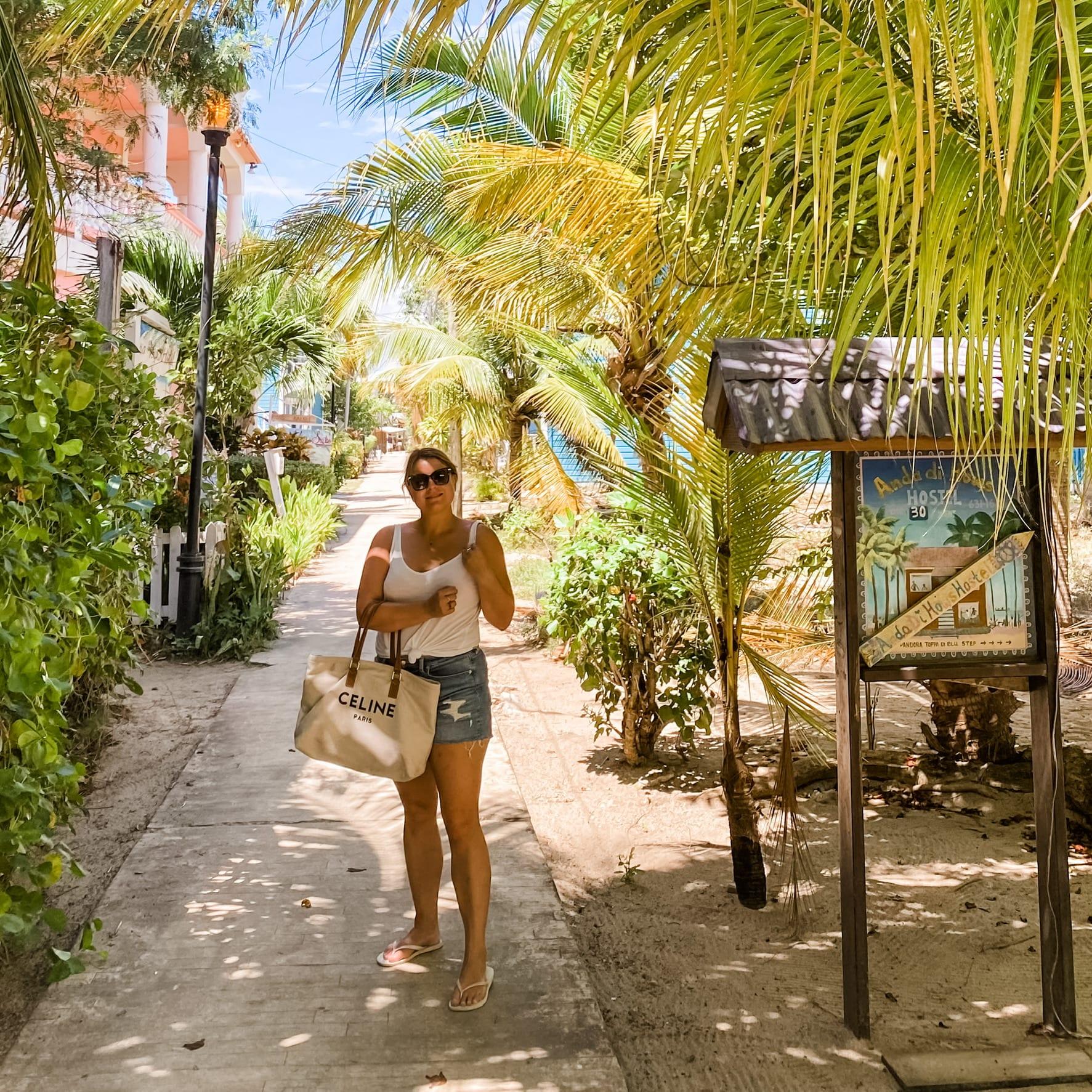 Rosanna stevens belize placencia sidewalk digital nomad
