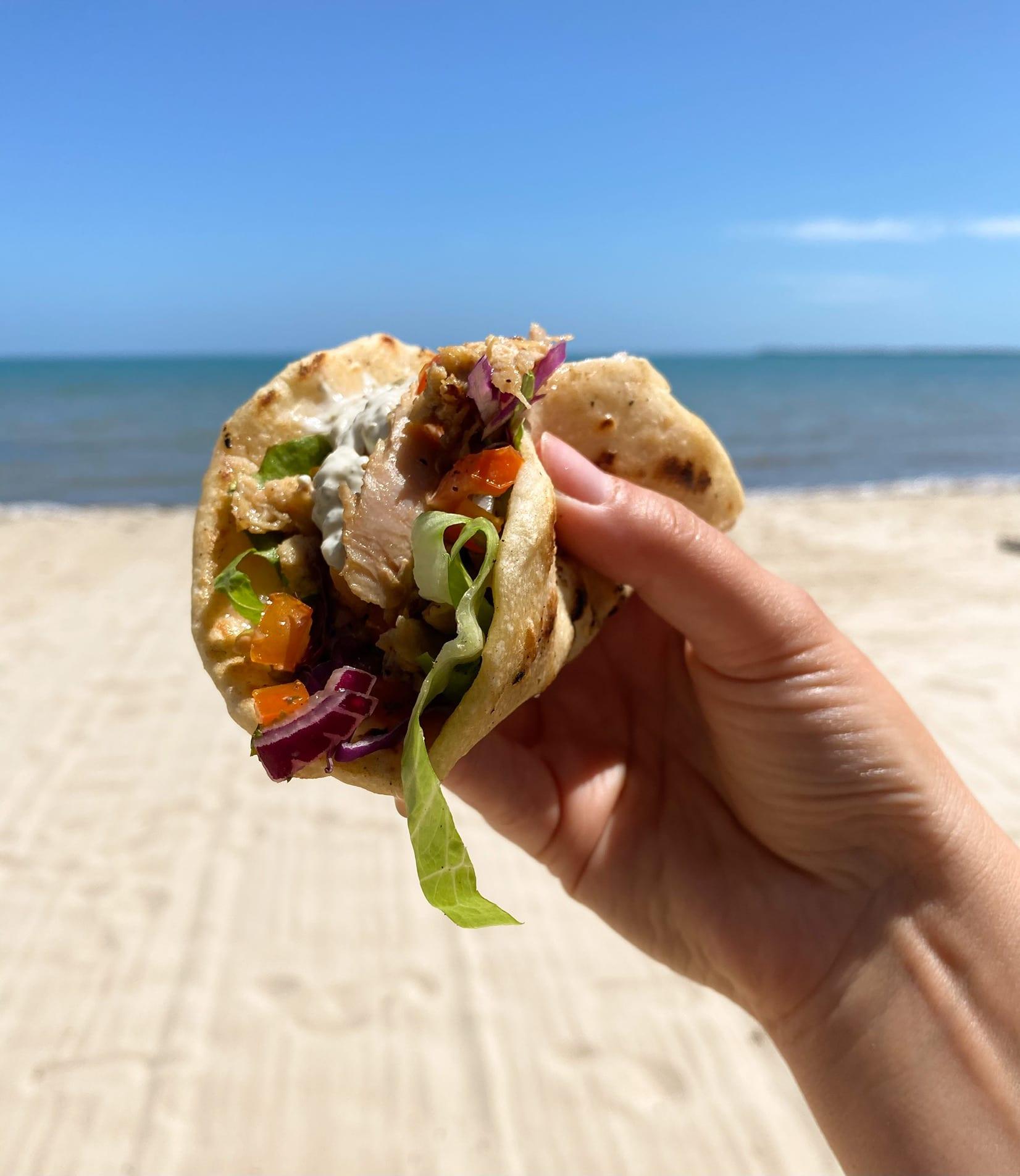 fish taco belize beach Rosanna digital nomad
